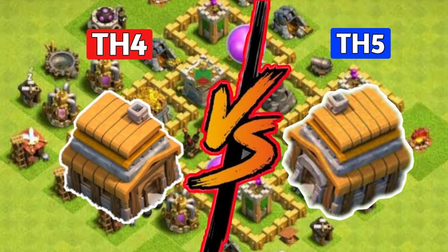 Clash Of Clans | TH4 vs TH5 Nice | Attack Strategy