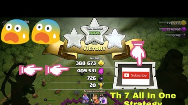 Clash of clans Th 7 Attack Strategy For Farming, War and Trophy Pushing(Clash series Ep-2)