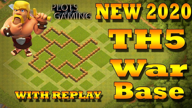 Clash Of Clans Town Hall 5 Defense (CoC TH5) Best War Base | With Replay | Plots Gaming