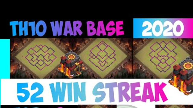 TH10 WAR BASE 2019+2020, TH10 Base Anti 3 Bintang, COPY LINK - Clash of Clans Indonesia