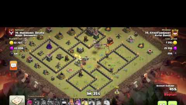 Clash of Clans War Attack TH 9 By: Gamer cupu