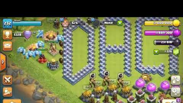 Clash of Clans, 3 stars against th12 max