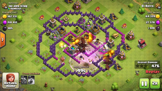 Town Hall 8 Dark Elixir Farming With Dragons- Clash of Clans