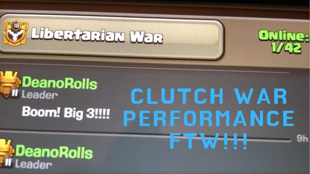 Clash Of Clans - Clutch Clan War Performance FTW!!! 3 Star Attack #1 versus #1