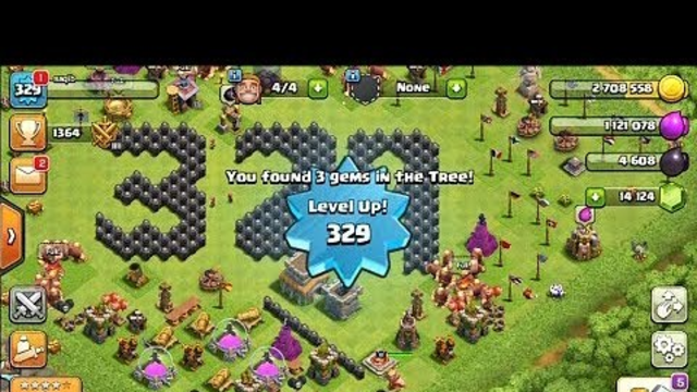 329 LEVEL UP  LIVE TH8  IN CLASH OF CLAN  :COC