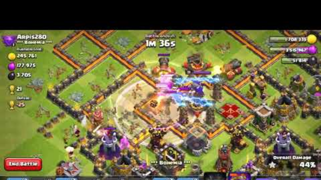 Clash of clans th10 gameplay