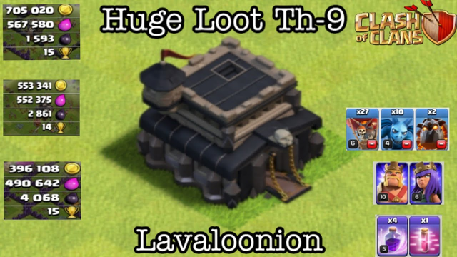 Clash Of Clans: Huge Loot Th-9 | Lavaloonion | Triple Trouble