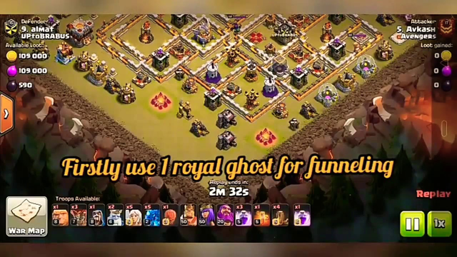 Clash of clans attack, queen charge with electro drag #1