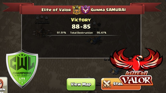 CWL Lite Season 7 WK11: Elite of Valor vs Gunma SAMURAI | War Recap | Clash of Clans