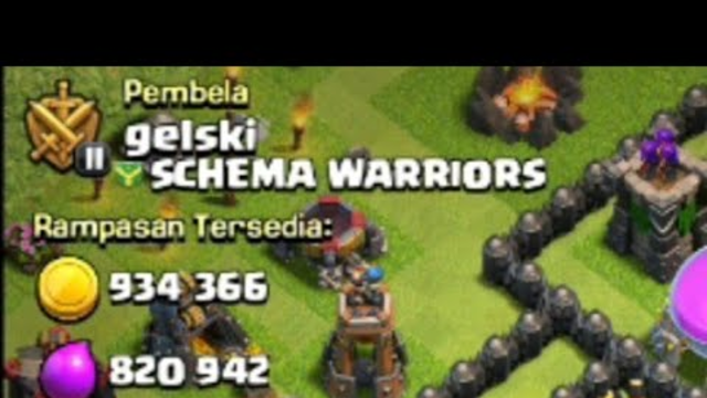 Wow A Base With 1 Millon Loot. Clash of Clans  Indonesia