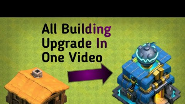 All Building Upgrade in 5.30 Min Clash Of clans BY COC ADDA | TH1 to TH12 Time laps By COC ADDA
