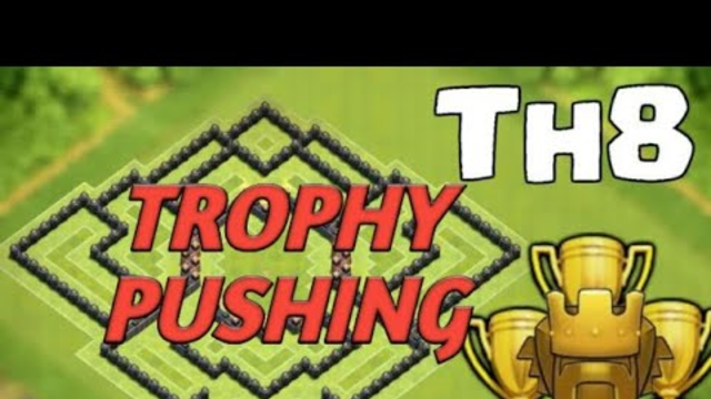 Clash of Clans Th 8 Trophy Pushing to Titan Live