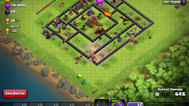 Clash of clans town hall 8 attack