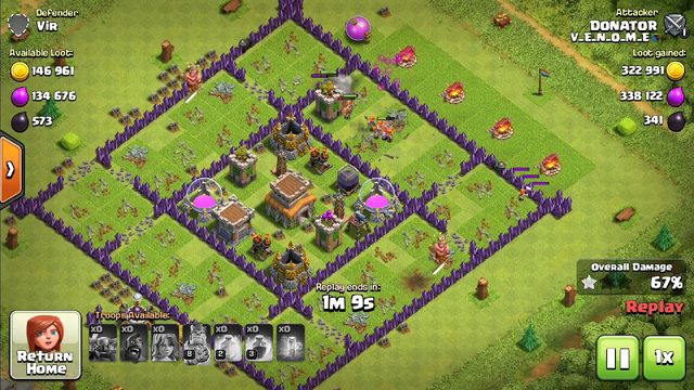 #Clash of clans ! #3 star ! #Townhall 8 ! #Special Attack