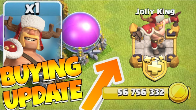 BUYING the New Jolly SKIN!! (56 MILLION GOLD!!) Clash of clans!!