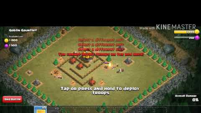 Clash of clans win only with 3 player intresting moment