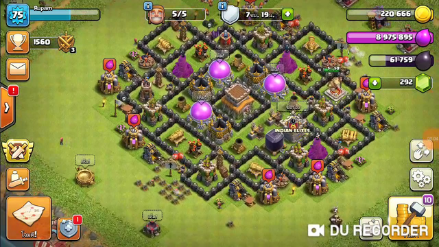 My town hall 8 fully max on clash of clans