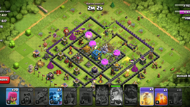 Clash of Clans attack looting