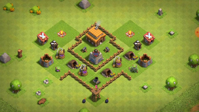 Th3 base, Clash of Clans
