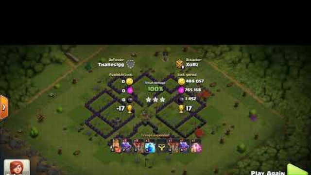 Clash Of Clans (COC) 3 Star attack strategy for Town Hall 8
