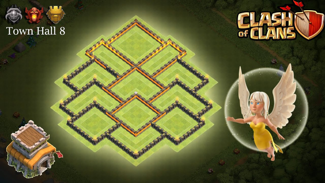 Town Hall 8 Hybrid Base December 2019 - Clash of Clans (TH8)