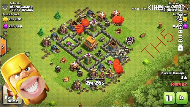 Best loot on Clash of Clans in TH5 I've got