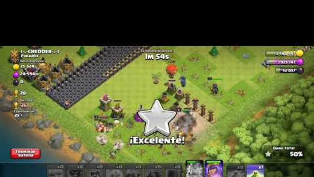 Clash of clans (3 estrellas )