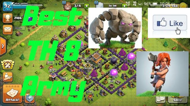 Best TH8 Army for clash of clans( with replays)