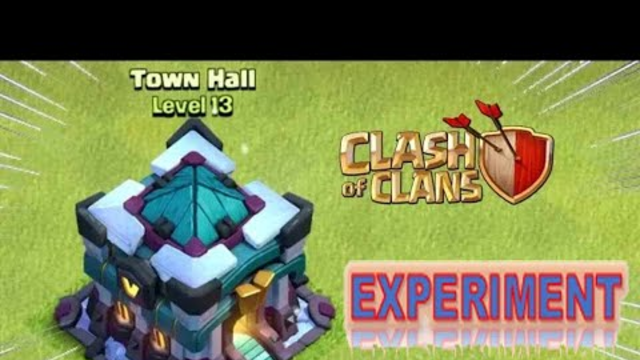 TH 13  experiment with troops and heroes l CLASH OF CLANS