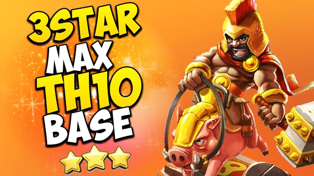 THE BEST TH10 HOG ATTACK STRATEGY! 3 Star Max TH10 War Base (Town Hall 10) | Clash of Clans
