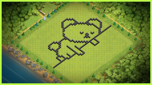FUNNY | CREATIVE |SLEEPY BEAR | BASE LAYOUT WITH COPY LINK | CLASH OF CLANS