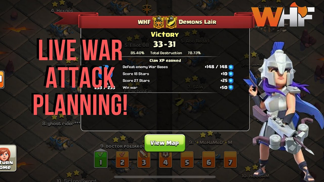LIVE PLANNING AND ATTACK! Clash Of Clans - Clan War Leagues Planning And Attacking With QC Dragons