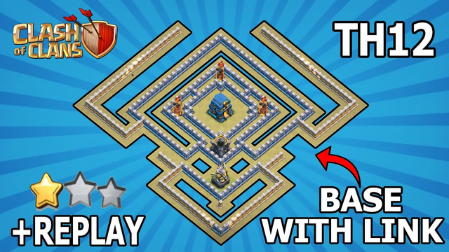 TH12 WAR AND TROPHY BASE ANTI 2 STARS   BASE LAYOUT COPY LINK   LINK IN DESCRIPTION   Clash of Clans