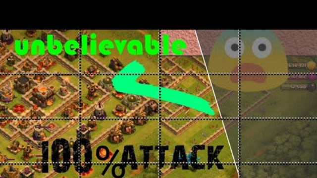Clash of clans: max level town hall best attack strategy always 100%