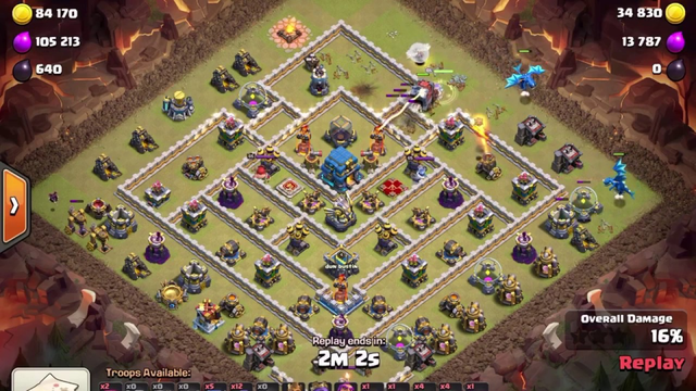 Clash of Clans - TH12 Queen Charge BoWitch - 3 Star