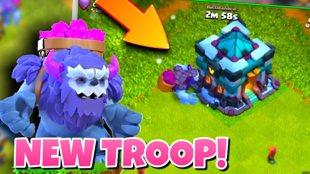 THE NEW YETI TROOP FINALLY REVILED IN CLASH OF CLANS! TH13 UPDATE!!!