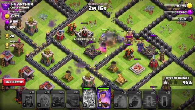 Clash of Clans TH10 Attack Method (Insta Win)