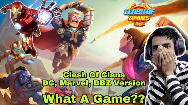 Clash Of Clans Of Marvel, DC, DBZ Version | X-War: Clash Of Zombies | Gameplay | Review |