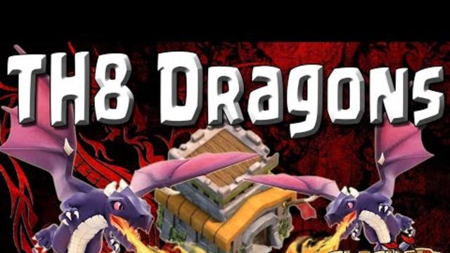 Dragon vs Th8 | Clash Of Clans
