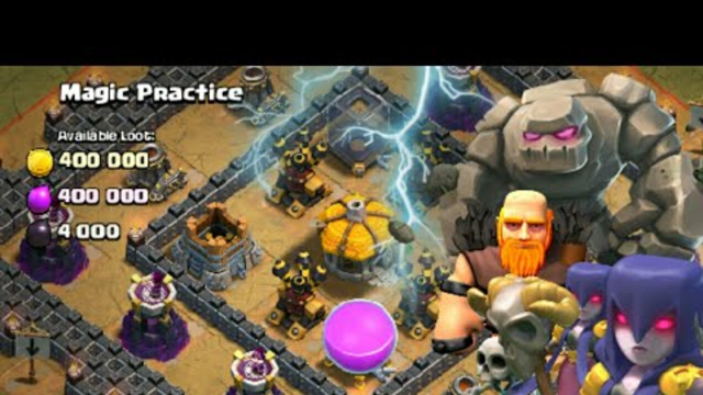Witch Slap on Magic Practice(goblin village)-Clash Of Clans