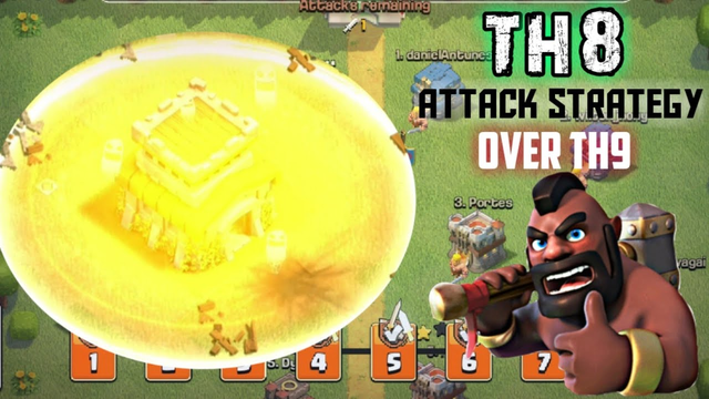 CLASH OF CLANS| TH8 STRATEGY THAT CAN DEFEAT TH9 BASES