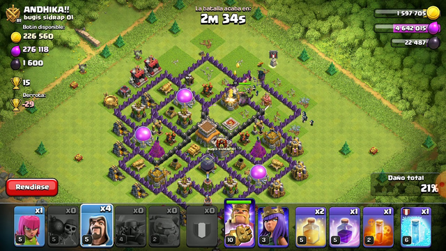 Planeando a un Th8 - Clash of Clans