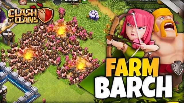 FARM HDV 12 EN BARCH ! ( LIVE Clash of clans FR )