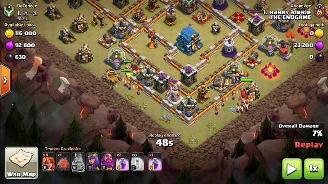 the a team saves  COC FAILURE ATTACK nr 10000 !  with 1 star