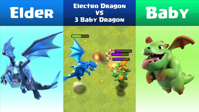 Every Level Electro Dragon VS Every Level Baby Dragon | Clash of Clans