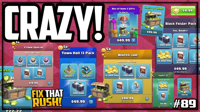 MOST Packages EVER! Town Hall 13 Fix That Rush Clash of Clans #89