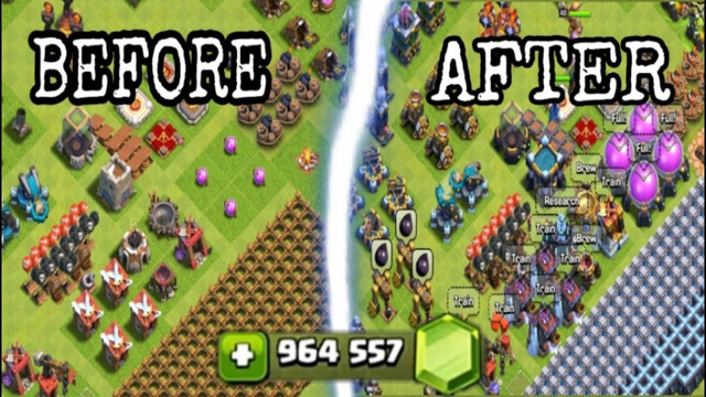 GEMMING FROM TH1 TO TH13 IN ONE VIDEO | CLASH OF CLANS TOWNHALL 13 GEM SPREE | GEM TO MAX | COC