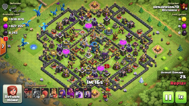 Clash of Clans - 100% with 1M loot