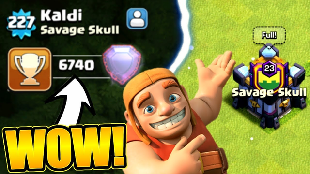 WE JOINED THE BEST PLAYER ON THE PLANET IN CLASH OF CLANS!!