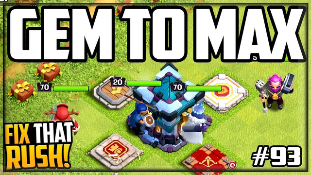 ALL 4 Heroes Gemmed to MAX! Clash of Clans Fix That Rush #93